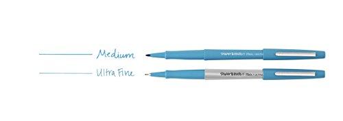 Papermate Flair Porous Point Stick Free-Flowing Liquid Pens, Blue Ink, Ultra Fine Point, Dozen, DZ - PAP8310152 Photo #3
