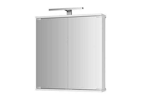 Jokey spiegelkast Kandi MDF/hout in de kleur wit met verlichting