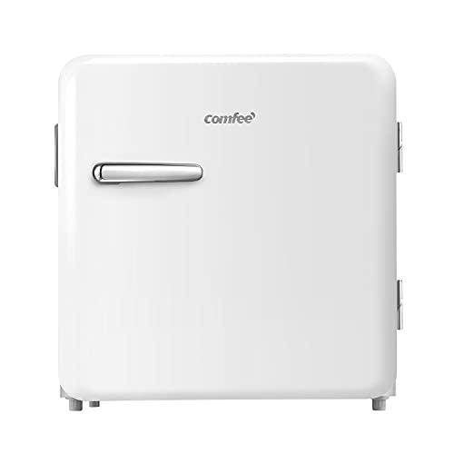 Comfee RCD50WH1RT(E) Mini frigorífico/Frigorífico retro/nevera de 47 L / 50 cm de altura / 100 kWh/año/blanco