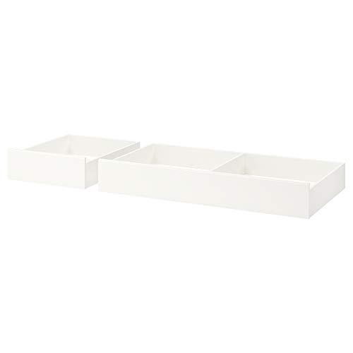 SONGESAND - Caja de almacenaje para cama (2 unidades, 199 x 67 x 23 cm), color blanco