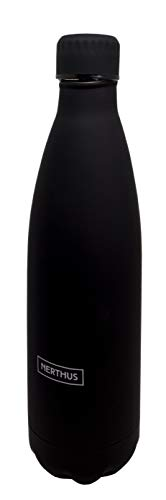 NERTHUS FIH 621 621-Termo Doble Pared para frios y Calientes Diseño Negra 750 ml Libre de BPA, Tapon Hermético, Acero Inoxidable 18/39