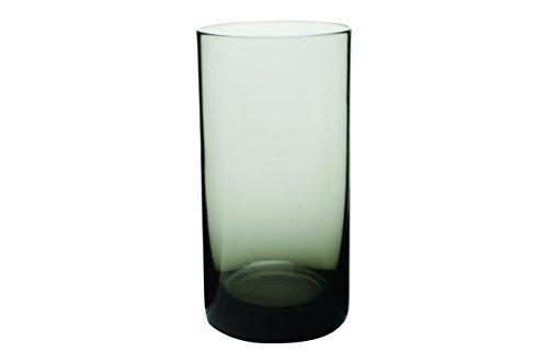 Canvas Home 4-Piece Elaina Collins Glass Set, Smoke