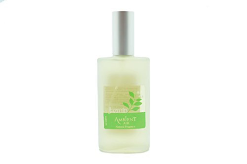Ambientair Perfume de Hogar en Spray, Aroma Jazmín, 100 ml, Cristal, Verde, 5x3x12 cm