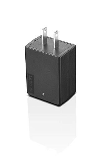 Lenovo 45W USB-C Ultraportable Adapter, AC Wall Charger for Laptops, Smartphones and Tablets, Indicator Light, GX20U90488