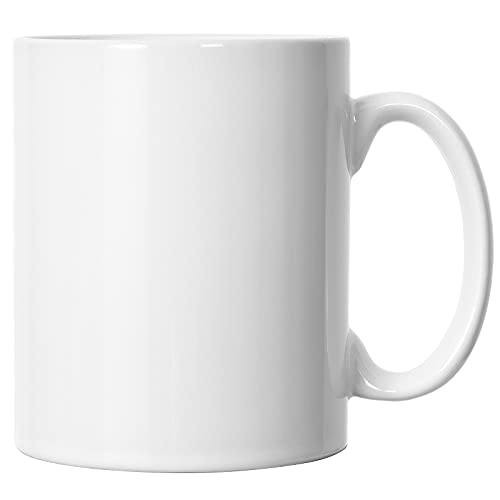22 OZ Extra Large Coffee Mug, Harebe Smooth Ceramic Boss Tea Cup for Office and Home, Big Capacity and Handle, for Dad Men, White
