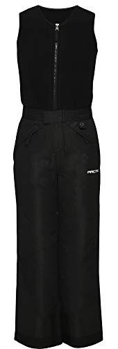 Arctix Kids Limitless Fleece Top Bib Overalls, Black, Small Regular