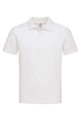 Stedman ST3200 Katoen Poloshirt voor kinderen wit XL (12-13)