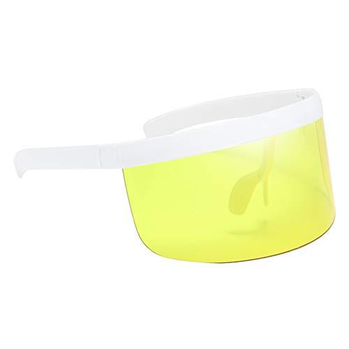 Sharplace Gafas de Sol de Moda Gafas de Mujer Hombre Lentes de Montura Grande - Amarillo