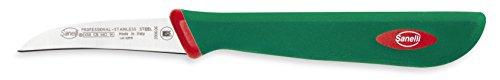 Sanelli Premana Professional Coltello Verdura spelucchino curvo, Acciaio Inossidabile, Verde /...