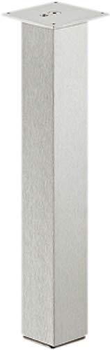 Gedotec Alu Tischbein eckig Tischfuß gerade Möbel-Beine - H1760 | Aluminium rostfrei Edelstahl-Optik | Tischgestell quadratisch 60 x 60 mm | Höhe: 720 mm | 1 Stück - Möbelfuss ohne Höheneinstellung