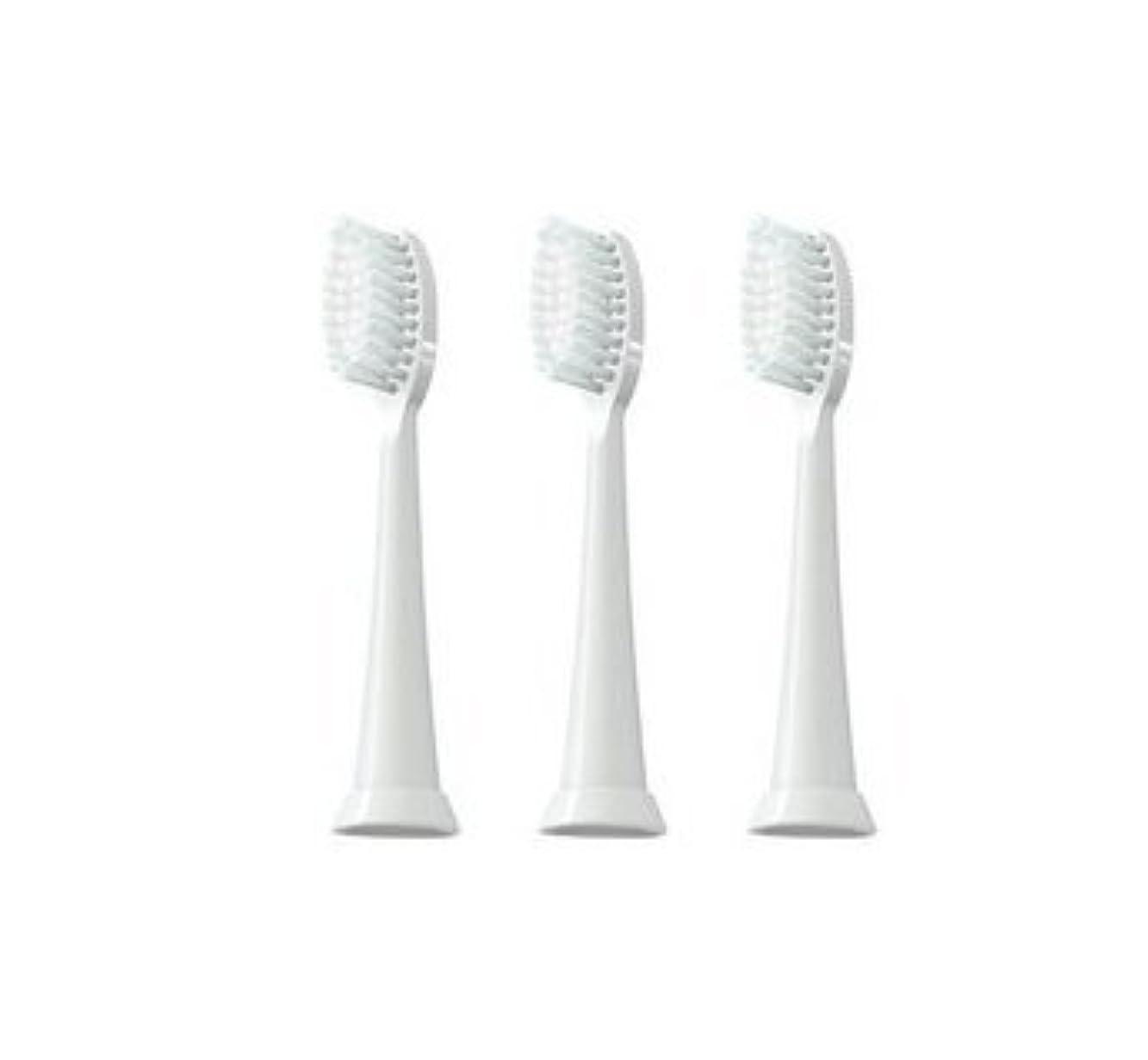 毎月ピジンインシデントTAO Clean 電動歯ブラシ用【替えブラシ 3本セット】(ホワイト)通常はメール便にて発送します。