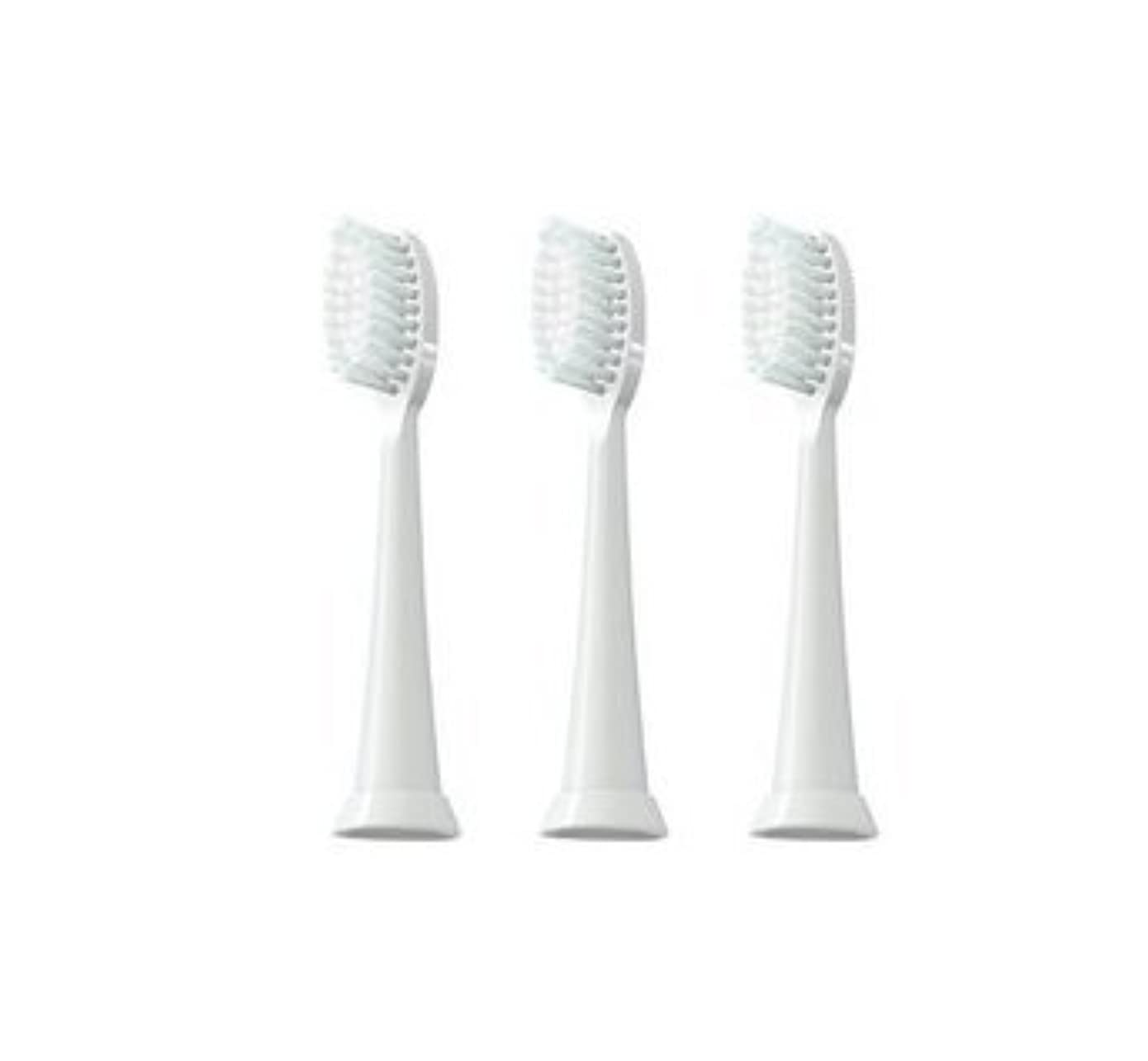 り傾斜賄賂TAO Clean 電動歯ブラシ用【替えブラシ 3本セット】(ホワイト)通常はメール便にて発送します。