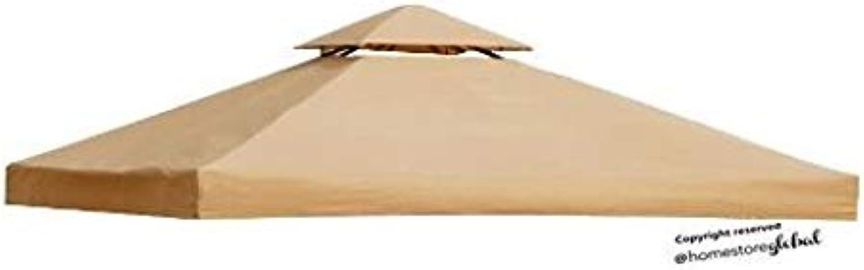 HomeStore Global Ersatzdach für Delux pavillon 3 x 3 Meter Braun