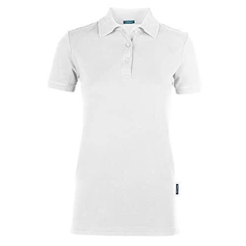 HRM Damen Luxury Stretch W Poloshirt, Weiß (White 02-White), Medium