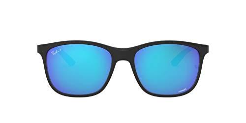 Ray-Ban Chromance Gafas, NEGRO, 56 Unisex Adulto