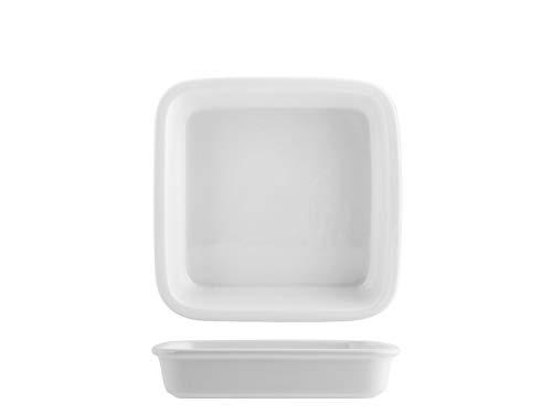 Saturnia 028420 Roma Plat carré en porcelaine Blanc 20 cm