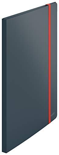 Leitz A4 Sichtbuch, 20 Klarsichthüllen für 40 Blatt, Samtgrau, Cosy-Serie, 46700089
