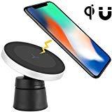 Magnetische kabellose Auto-Halterung, Neotrix luxuriöse Auto-Halterung nach Qi-Standard für Handy Mobiltelefon auf Lüftungsschlitz und Armaturenbrett magnetisch Auto-Halterung und Ladegerät für Qi-fähige Geräte