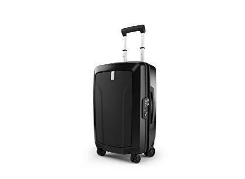 Thule Revolve 33 litri bagaglio a mano custodia da viaggio (superficie rigida, chiusura a chiave, carrello, Carry-On Spinner, robusto con 4 ruote, 55 cm) Nero