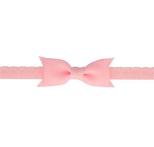 Your Little Miss Baby-Haarband mit Schleife für Neugeborene - Rosa - Elastisches Haarband/Stirnband mit Schleife