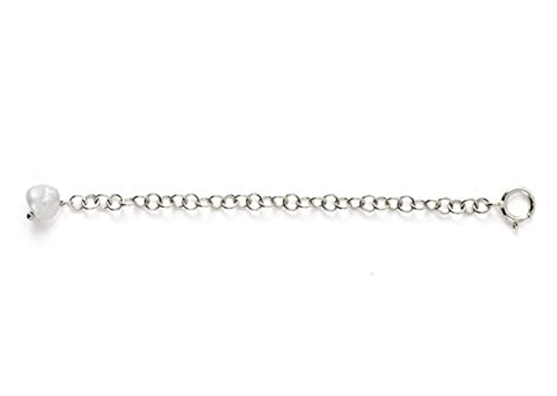 1pc Sterling Silver Chain Extender Strong Removable Adjustable - 2 inch Chain Extension w/Pearl for Necklace Anklet Bracelet SS313-2 dbmljcrz687069