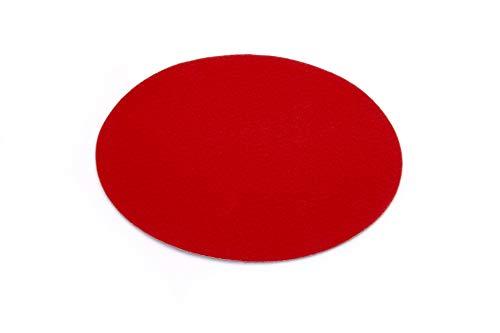 Primaflor - Ideen in Textil Eventteppich Hochzeitsteppich Podium Rund Rot - 1,00m Durchmesser 2,6mm Hoch - Weihnachtsbaum Teppich, Weihnachtsbaum Decke, Stehtischunterleger Messeteppich