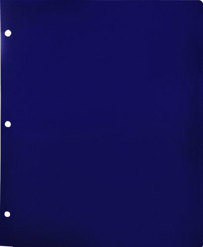 Lion 2-Pocket Plastic Folder for Binder, Midnight Blue (Dark Blue), 1 Folder (91000-MB)