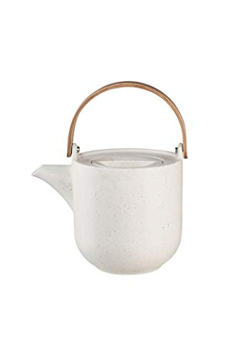 ASA coppa Teekanne mit Holzgriff sencha Porzellan 0,6l