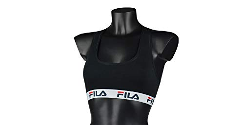 Fila fu6042, Reggiseno sportivo Donna, Black, S