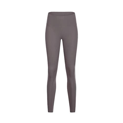 QTJY Soft Nude Sports Fitness Leggings Deportes Damas Fitness Cintura Alta Pantalones de Yoga Medias Control del Vientre Yoga Leggings KS