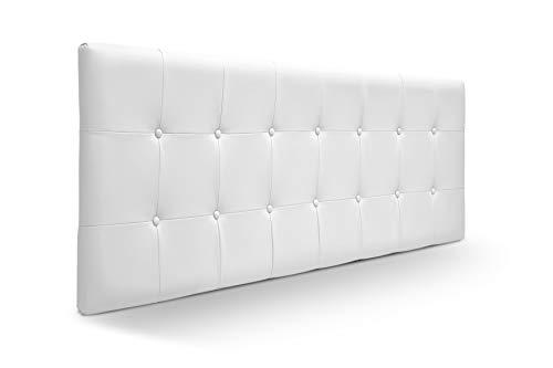 SUENOSZZZ-ESPECIALISTAS DEL DESCANSO Cabecero de Cama Munich tapizado en Polipiel para Camas de 90 (100 x 57 cm) Polipiel Blanco