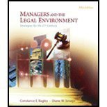 Image of Study Guide for Bagley/Savage's Managers and the Legal Environment: Strategies for the 21st Century, 5th
