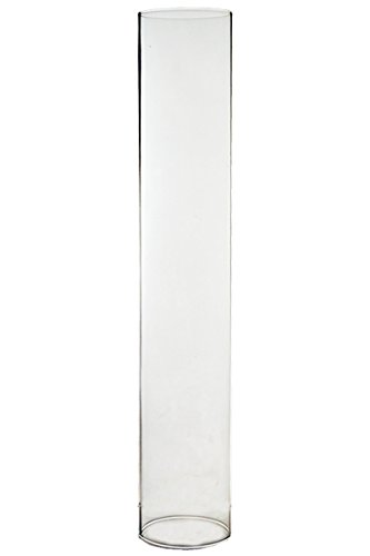 """CYS EXCEL Various Size Glass Hurricane Candle Holders, Tabletop Protection Decoration, Chimney Tube, Glass Cylinder Open Both Ends, Open Ended Hurricane, Candle Shade, Pack of 6 (2.5"""" wide x 14"""" tall)"""