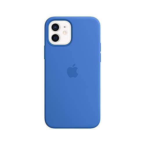 Apple SilikonHülle mit MagSafe (für iPhone 12   12 Pro) - Capriblau