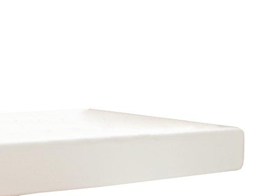 Blanc des Vosges Uni Jersey Drap housse extensible Coton Coquille du 90x190 cm à 110x220 cm