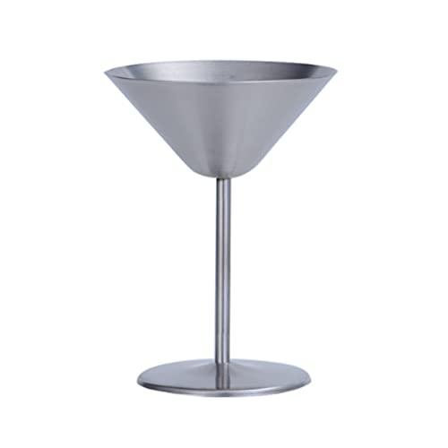 Yissone Vaso de cóctel de acero inoxidable, irrompible Martini con base antideslizante para bodas, fiestas, aniversarios y cumpleaños