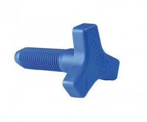 Twinny Load Sternschraube einzeln passend für alle Klemmschuhe blau