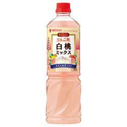ミツカン ビネグイット りんご酢白桃ミックス(6倍濃縮タイプ) 1000mlペットボトル×8本入×(2ケース)