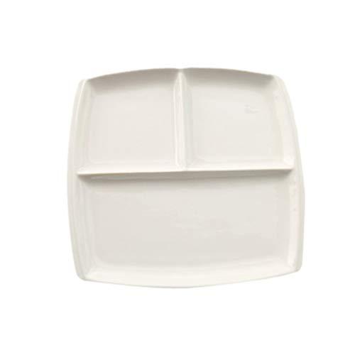 Cabilock Plato de Dieta Dividido-Plato de Pérdida de Peso Platos Cerámicos para Un Fácil Control de Las Porciones   Diseñado con Ideas Alimenticias para La Pérdida de Peso Sostenible  