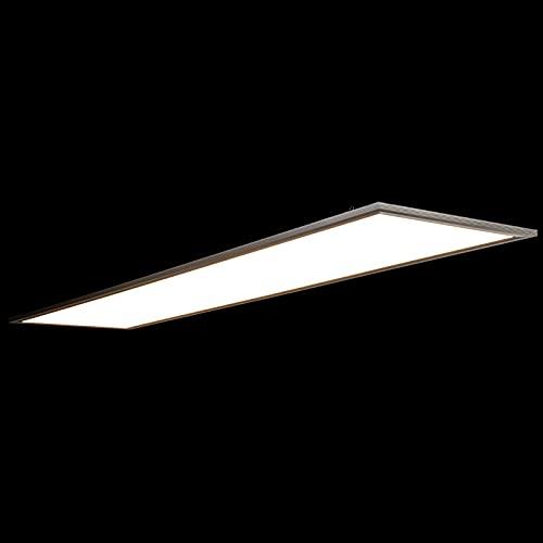 Allesin Dalle LED Panneau Luminaire, Plafonnier LED de Bureau 120x30cm (40W, Blanc Naturel 4000k) Cadre Blanc, Ultra-mince, Suspension Lampe de Plafond, Eclairage Intérieur, avec Clips de Montage
