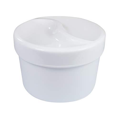 Medi-Inn Zahnprothesenbecher Zahnbehälter Zahnspangendose mit Sieb und Schraubdeckel weiß (20 Stück)