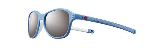 Julbo Boomerang Kids Sunglasses, Blue/Blue/Lavender Frame - Smoke Lens w/Silver Mirror