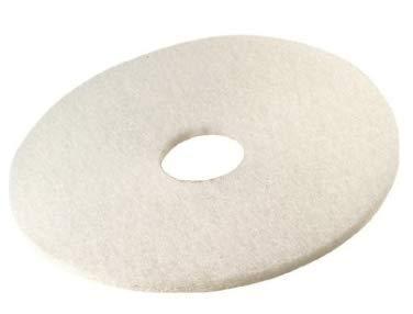 Discos en blanco de abrillantado profesional. Caja 5 uds. Son discos de limpieza especial para abrillantado de suelos en alta calidad. Uso en máquinas pulidoras