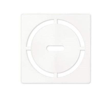 Schluter Kerdi 4 Zoll Vierkant Edelstahl Rost - Pure Design Matte White weiß