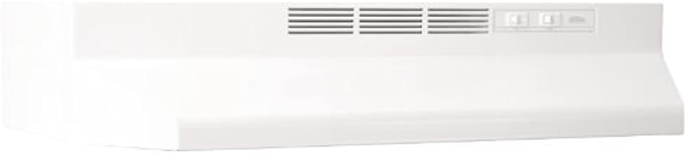 Broan 412401 ADA Capable Non-Ducted Under-Cabinet Range Hood, 24-Inch, White