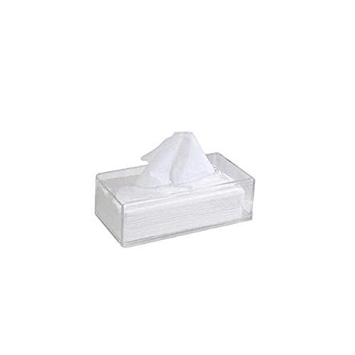 Acryl Clear Weefsel Deksel Rechthoekige Servet Car Office Paper Houder Case,White