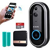DEBARK Smart Video Doorbell Wireless Home WiFi Security Camera with Indoor Chime, Free Cloud Service, 2 Batteries, 2-Way Talk, Night Vision, PIR Motion Detection, APP Control for iOS Android Google