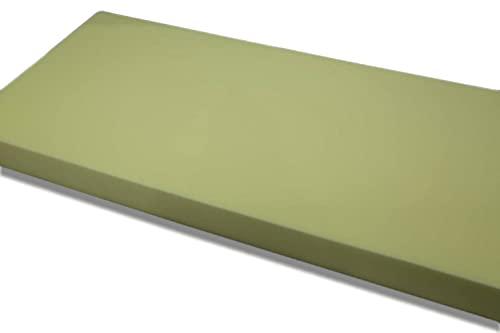 Colchón Económico de Espuma de Poliuretano - Densidad Blanda D20kg (90 x180 x10 cm de Grosor) - Color Amarillo - Multiusos (Somieres, Bases tapizadas) - Higiénicos y Transpirables ⭐