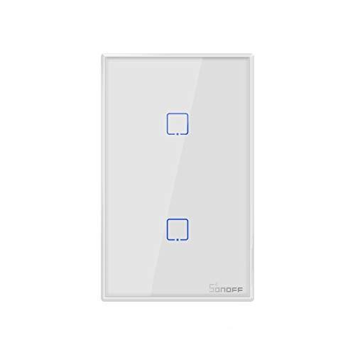 Inicio inteligente LGMIN SOOFF T2 TOUCH TUCHO 120 MM Cambio de la pared del panel de cristal templado de 120 mm Interruptor táctil de luz inteligente, compatible con Alexa y Google Home, AC 100V-240V,