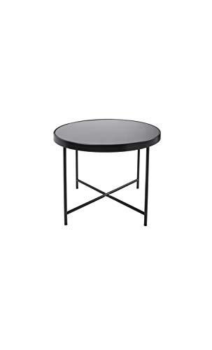 Present Time - Table Basse Noir Mat Plateau en Verre Smooth